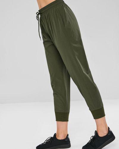 Спортивные брюки зеленый милитари Zaful Sports