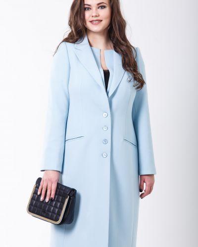 Однобортное синее пальто с карманами Sergio Cotti