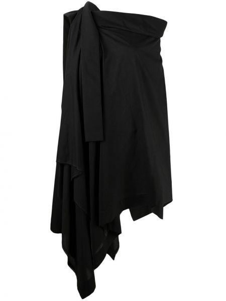 Асимметричный хлопковый черный топ Vivienne Westwood