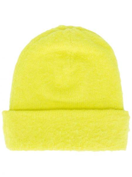 Żółta czapka wełniana Acne Studios