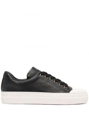 Кожаные черные кеды на шнуровке Tom Ford