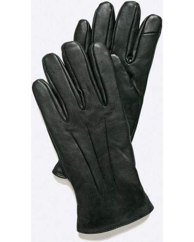 Черные кожаные перчатки Jack & Jones