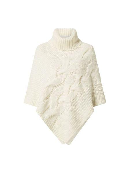 Ponczo wełniany - biały Esprit