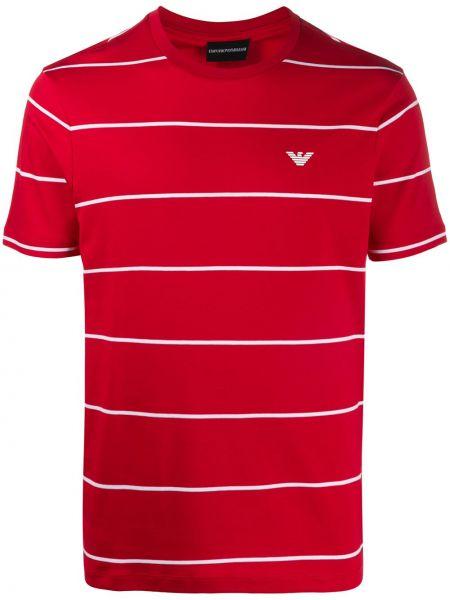 Koszula krótkie z krótkim rękawem z paskami z logo Emporio Armani