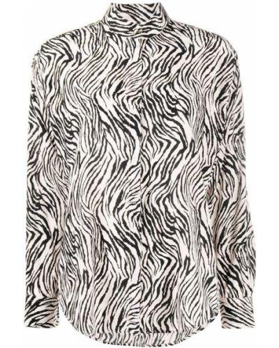 Czarna bluza z długimi rękawami z printem Isabel Marant