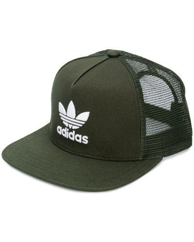 Кепка с логотипом сетчатая с прямым козырьком Adidas