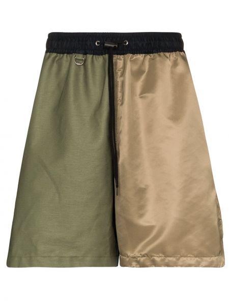 Нейлоновые зеленые шорты свободного кроя Sophnet.