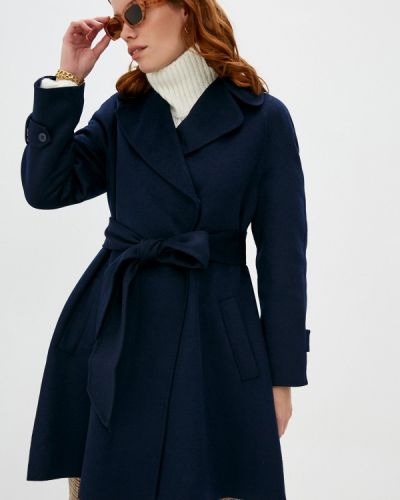 Синее пальто Twinset Milano