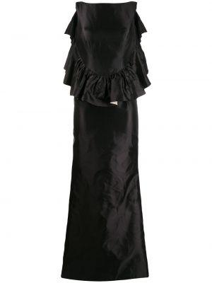 Черное платье с открытой спиной с оборками без рукавов Escada Pre-owned