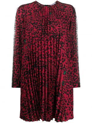 Sukienka koronkowa z printem sznurowana Redvalentino