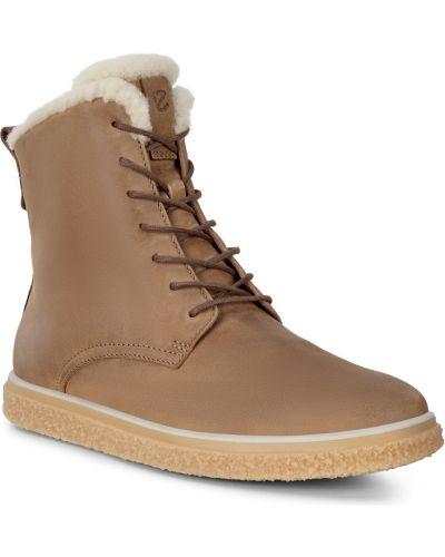 Кожаные ботинки - коричневые Ecco