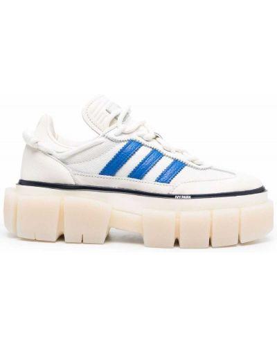 Parkа skórzana - biała Adidas