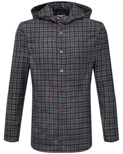 Серая шелковая рубашка Kiton