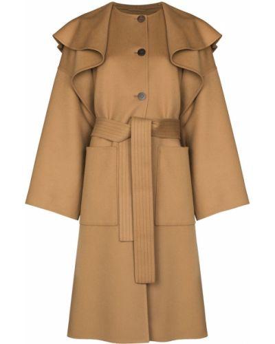 Коричневое пальто миди Loewe