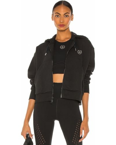 Черная укороченная кофта Adidas By Stella Mccartney