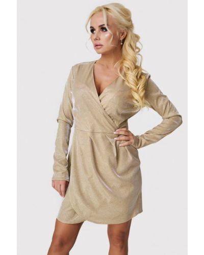 Вечернее платье осеннее золотой Luxlook