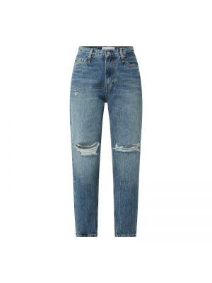 Niebieskie jeansy bawełniane Calvin Klein Jeans