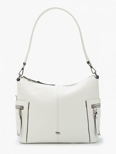 Белая кожаная сумка из натуральной кожи Labbra