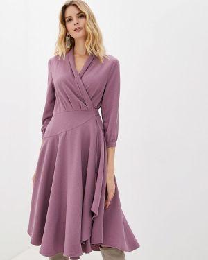 Платье розовое с запахом мадам т