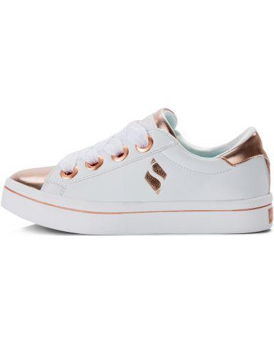 Кеды белые на шнуровке Skechers