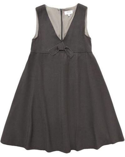 Платье серое с завышенной талией Aletta