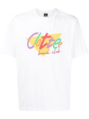 Biała t-shirt bawełniana krótki rękaw Clot