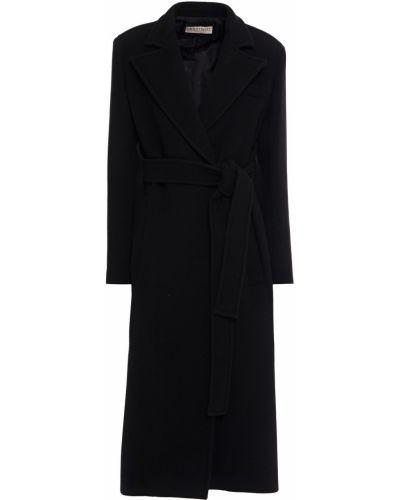 Шерстяное черное пальто двубортное Emilio Pucci