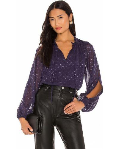 Сиреневая шифоновая блузка с декольте Sanctuary