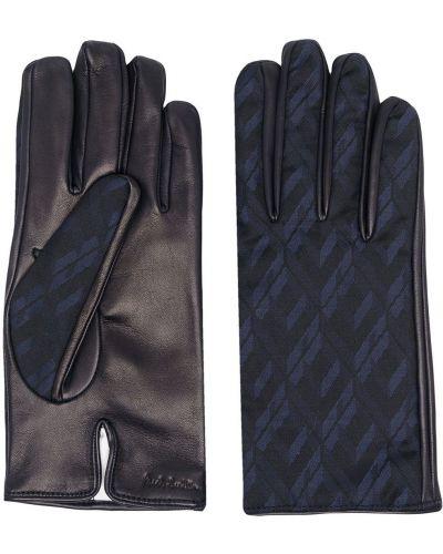 Brązowe rękawiczki wełniane Paul Smith