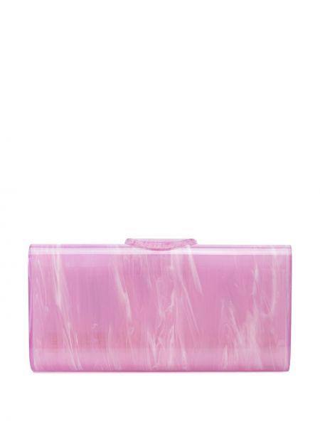 Акриловая фиолетовая сумка Edie Parker
