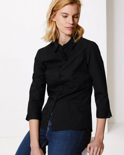 Блузка весенний черная Marks & Spencer