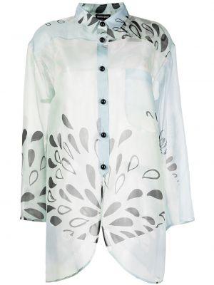Klasyczna koszula, niebieski Giorgio Armani