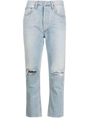 С завышенной талией прямые укороченные джинсы с карманами Agolde