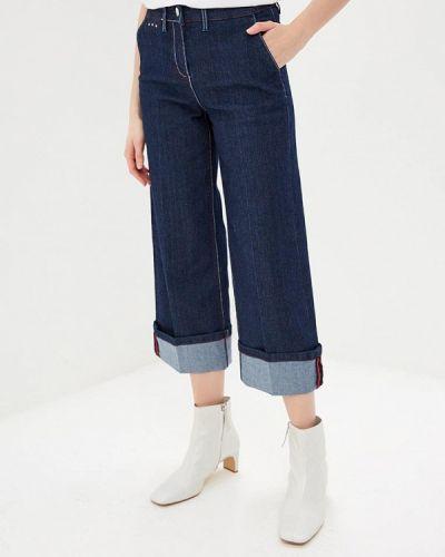 Широкие джинсы расклешенные синие Ovs