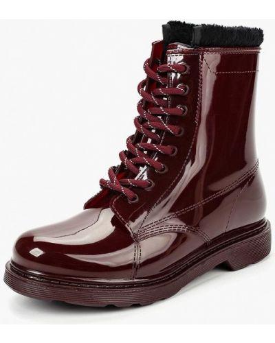 Ботинки на каблуке осенние резиновые Keddo
