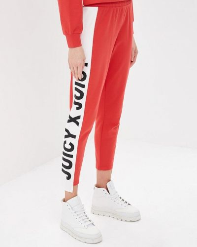Спортивные брюки красный Juicy By Juicy Couture
