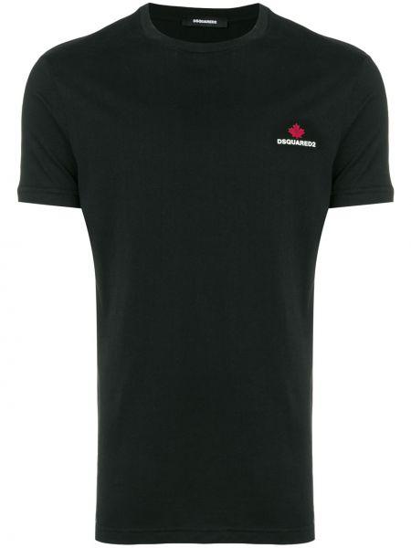 Koszula krótkie z krótkim rękawem z logo czarna Dsquared2