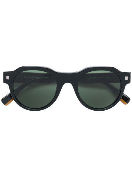 Солнцезащитные очки черные темный Ermenegildo Zegna