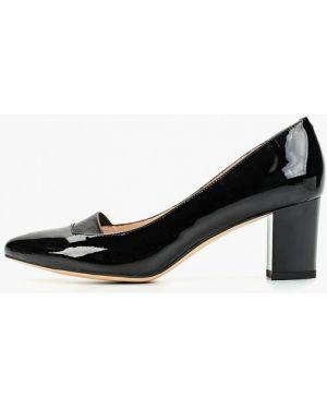 Туфли на каблуке черные кожаные Valley