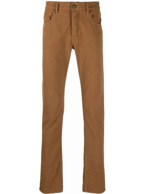 Brązowe spodnie z paskiem Hand Picked