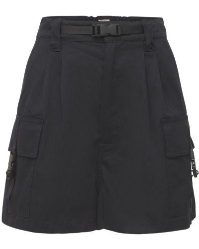 Черные хлопковые шорты Miu Miu