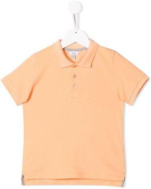 Асимметричная оранжевая рубашка в рубчик на пуговицах Knot