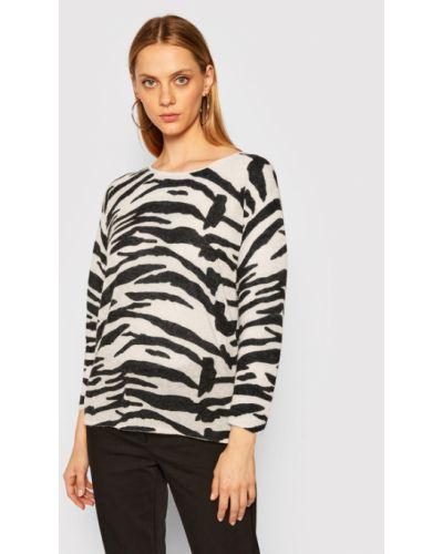 Beżowy sweter z alpaki Calvin Klein