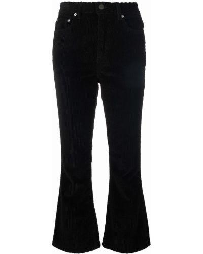 Классические брюки расклешенные - черные Ganni