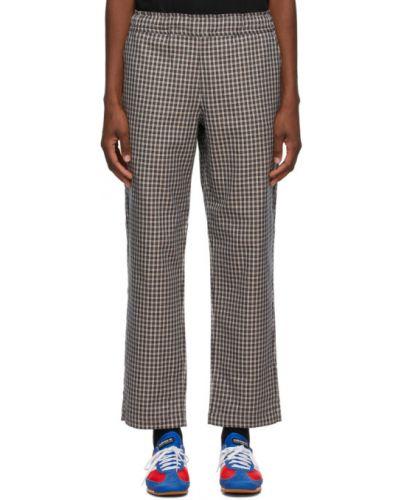 Брючные прямые черные прямые брюки с карманами Rassvet