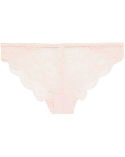 Розовые кружевные брифы на шнуровке Stella Mccartney