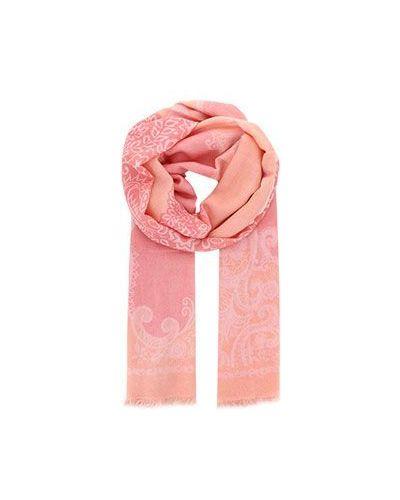 Розовый кашемировый палантин Alberotanza