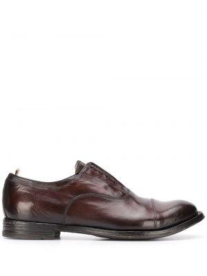 Коричневые кожаные туфли на шнуровке Officine Creative