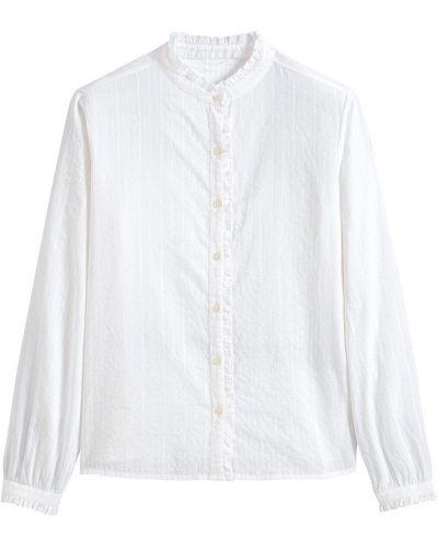 С рукавами белая блузка с воротником La Redoute