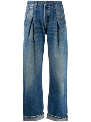 Широкие джинсы на пуговицах с карманами Re/done